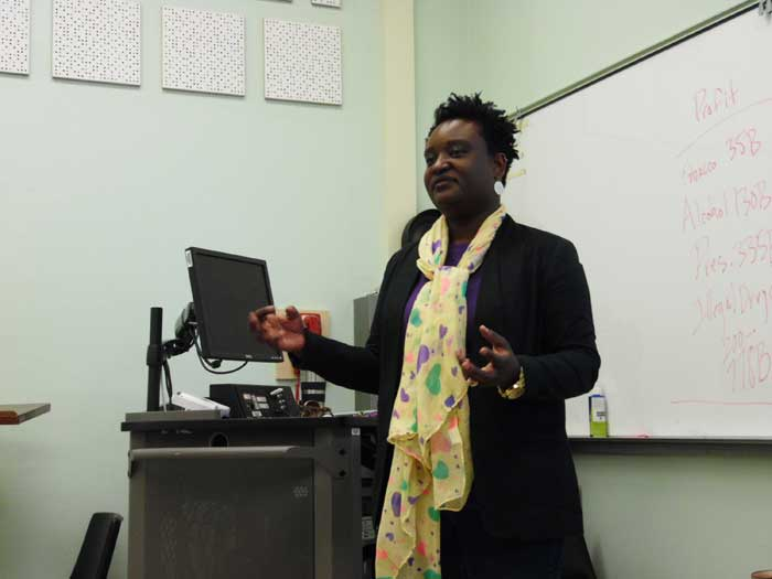 Prisca Ngondo, a journalism and public relations professor, is leaving Chico State after three years on the faculty to be closer to family in Houston. Photo credit: George Johnston