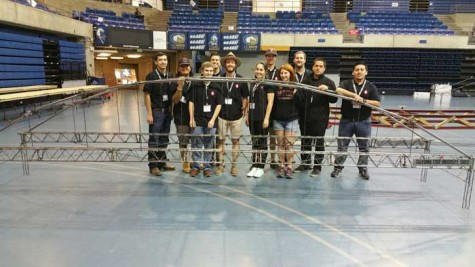 Victoria Goernert, a senior civil engineering major (fifth from the right), has participated in the Steel Bridge Competition for the past two years. Photo courtesy of Victoria Goernert.