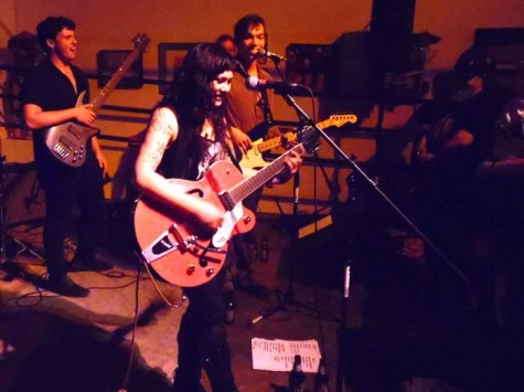 Aubrey Debauchery performs with her band The Broken Bones on Saturday at 1078 Gallery in an emotional set that marks her final show in Chico. Photo credit: George Johnston