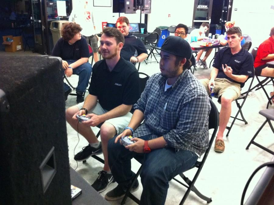 Students participate in the Game for Good charity event at Chico State's UHUB. Photo courtesy of Dominick Finetti.