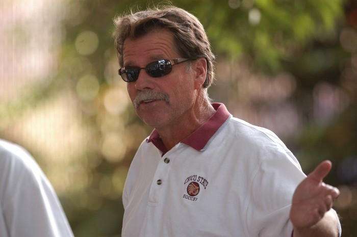 Mike O'Malley before his resignation as Chico State's men's head soccer coach. Photo courtesy of Mike O'Malley