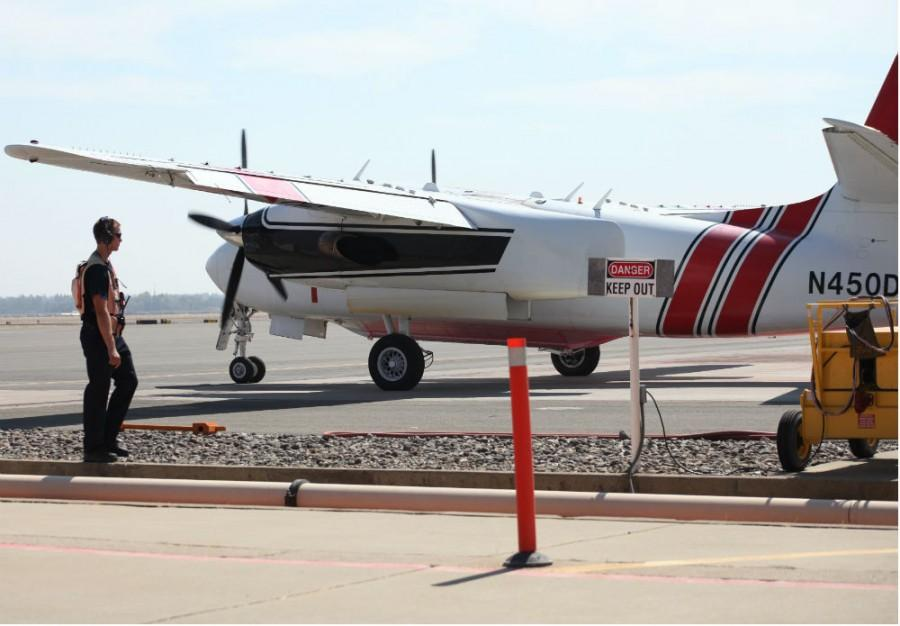 The Chico Municipal Airport has been sending planes to provide aid to the 14 active California wildfires Photo credit: John Domogma