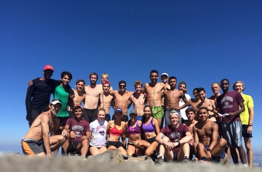 The Chico State men's cross-country team gears up for the 2015 season in Lake Tahoe. Photo courtesy of Gary Towne.