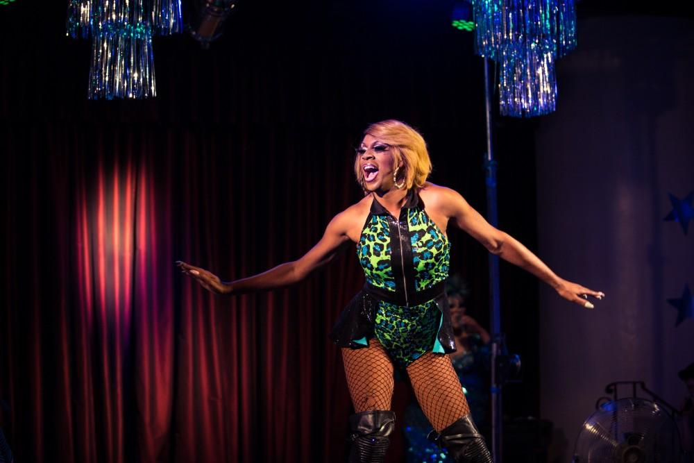 San Francisco performer, Mahlae, comes out to Chico Gay Pride's Variety Show Friday night. Photo credit: Emily Teague