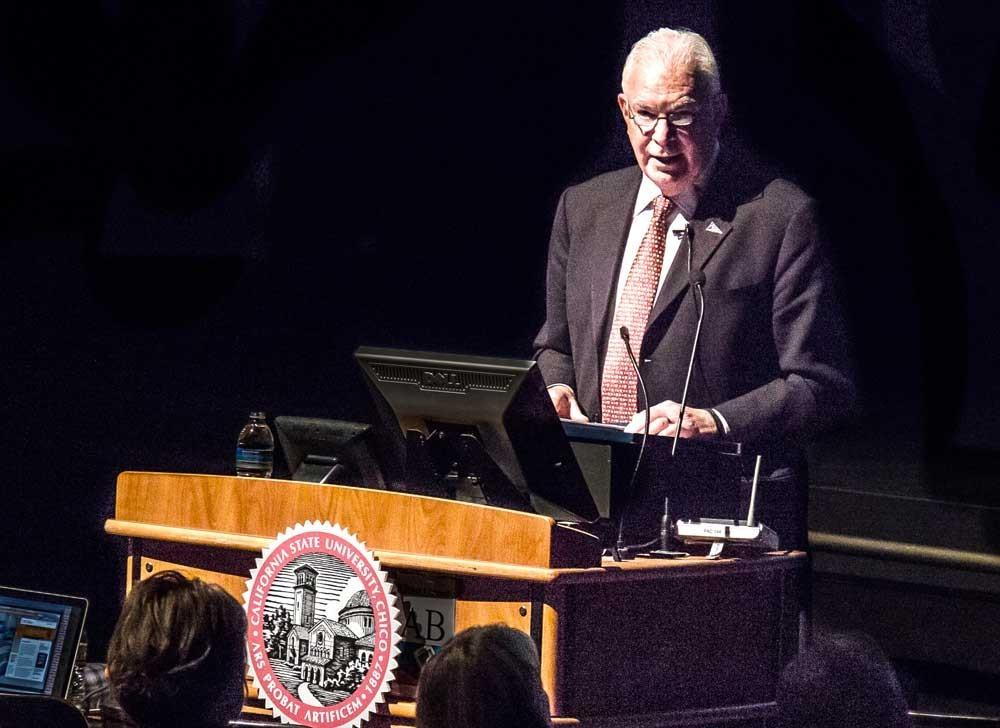 Chico State President Paul Zingg. Photo by  Trevor Ryan