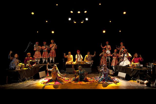 Bollywood Masala Orchestra performs onstage in its entirety. Photo courtesy of Chico Performances.