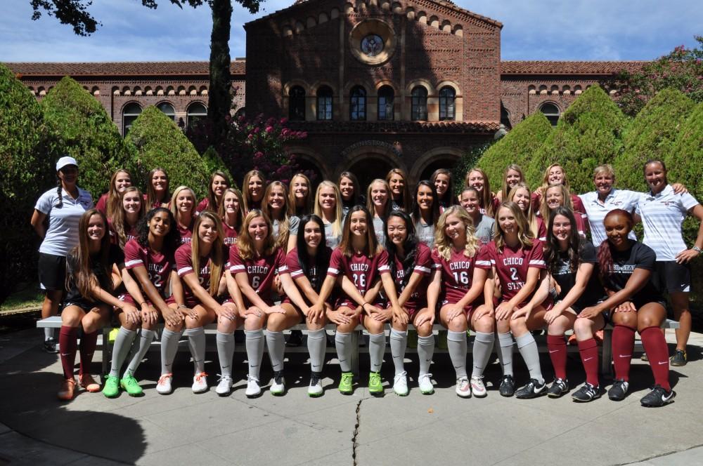 The 2015 Chico State women's soccer team. Photo courtesy of Luke Reid
