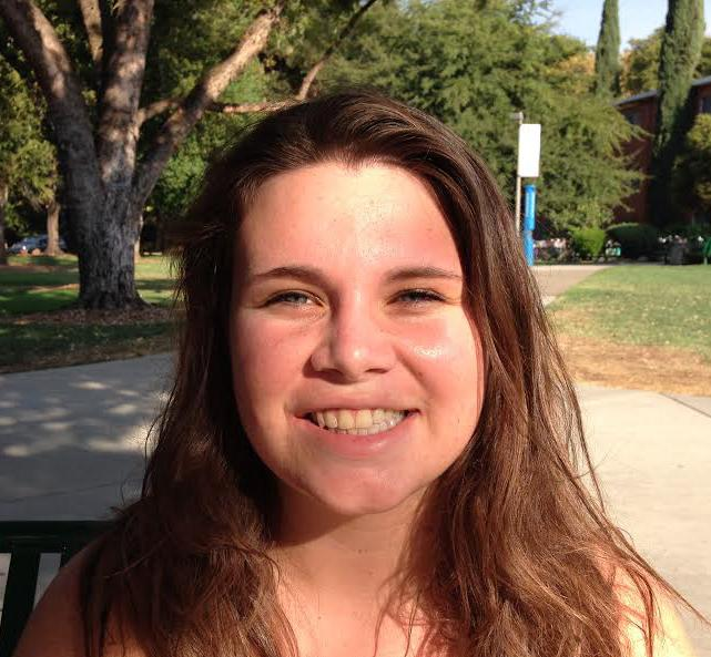 Emily Lovato, first-year communication sciences and disorders major, hopes that the quality of the food will increase for Sutter Dining. Photo credit: Stephanie Schmieding