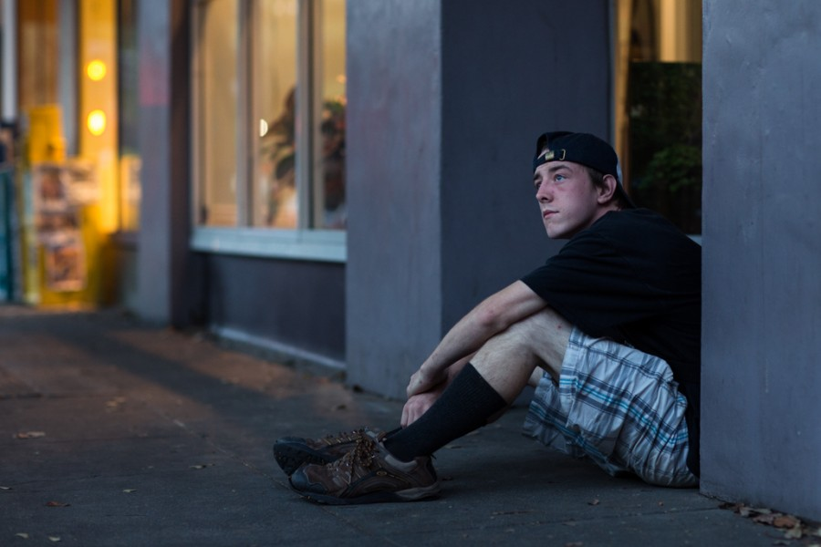Alexander Carter, 22, has been homeless for two years and is currently attending Butte College for his third semester. Photo credit: Emily Teague