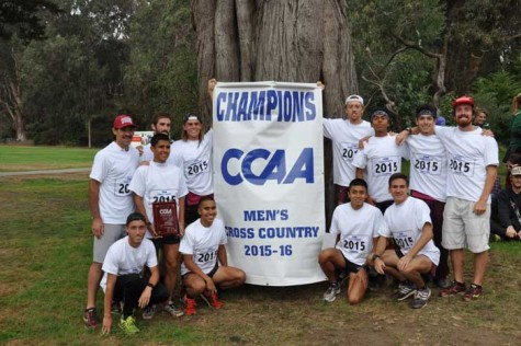 The Chico State men's cross country team took first place for the Wildcats for the 14th year in a row. Photo courtesy of Chico Wildcats.