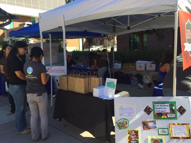 CalFresh helps inform students about the opportunity to get healthier food. Photo credit: Carly Plemons