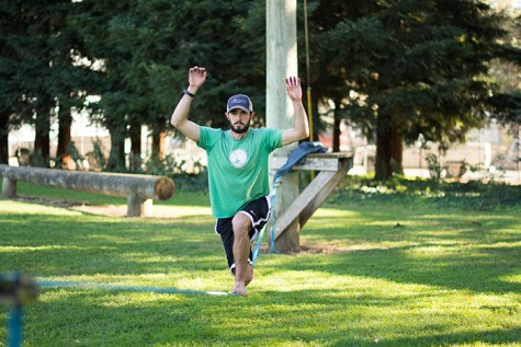 Slacklining doubles as stress reliever, workout