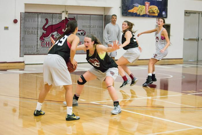 The Chico State womens basketball team fell 47-49 to San Francisco State in a close game on Dec. 4, ending its undefeated start to the season. Photo credit: Alicia Brogden