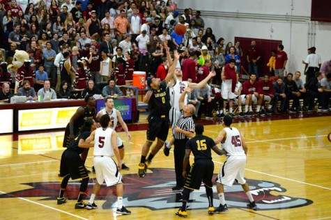The Chico State men's basketball team lost 50-62 to Seattle Pacific University on Nov. 27. Photo credit: John Domogma