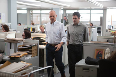 Michael Keaton and Mark Ruffalo search for the truth in