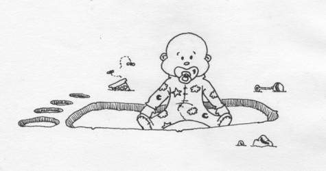 Babies lead to gigantic footprints