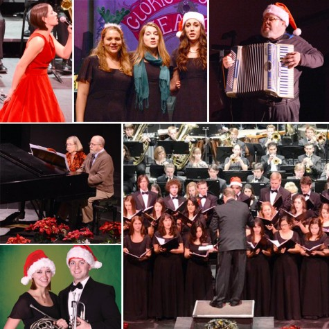 Harlen Adams Theatre decks the halls