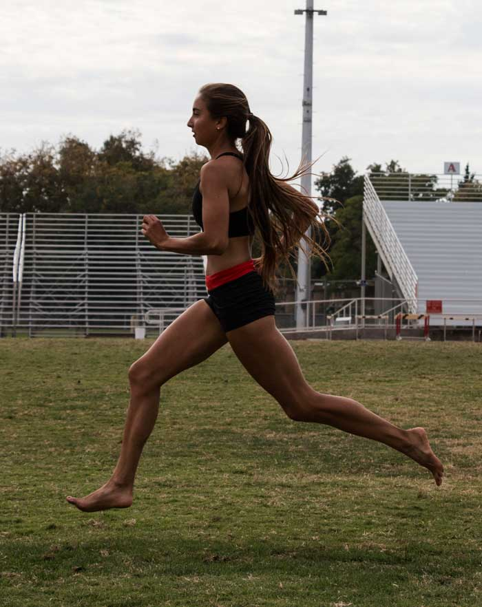 Junior Sadie Gastelum trains for the upcoming track and field season. Photo credit: The Orion