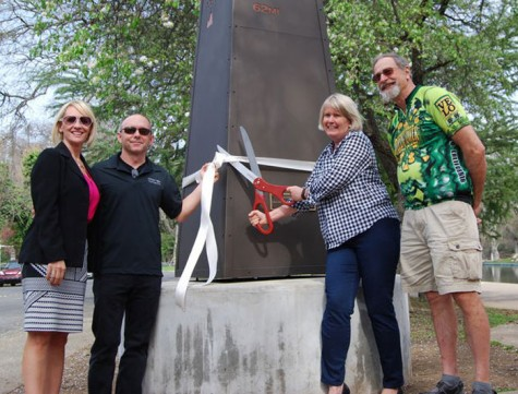 Cycling club celebrates artwork at Bidwell Park