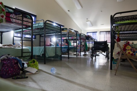 The Torres Shelter has many bunks designated for women. Photo credit: Ryan Corrall.