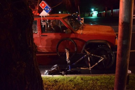 Biker hit by Domino's pizza delivery driver on Nord Avenue