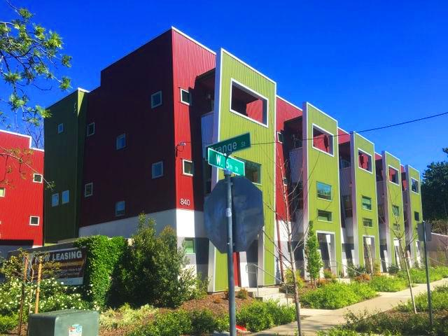 The+color+metal+siding+on+the+Portland+Place+building+helped+the+structure+to+land+the+award.+Photo+credit%3A+Elizabeth+Helmer