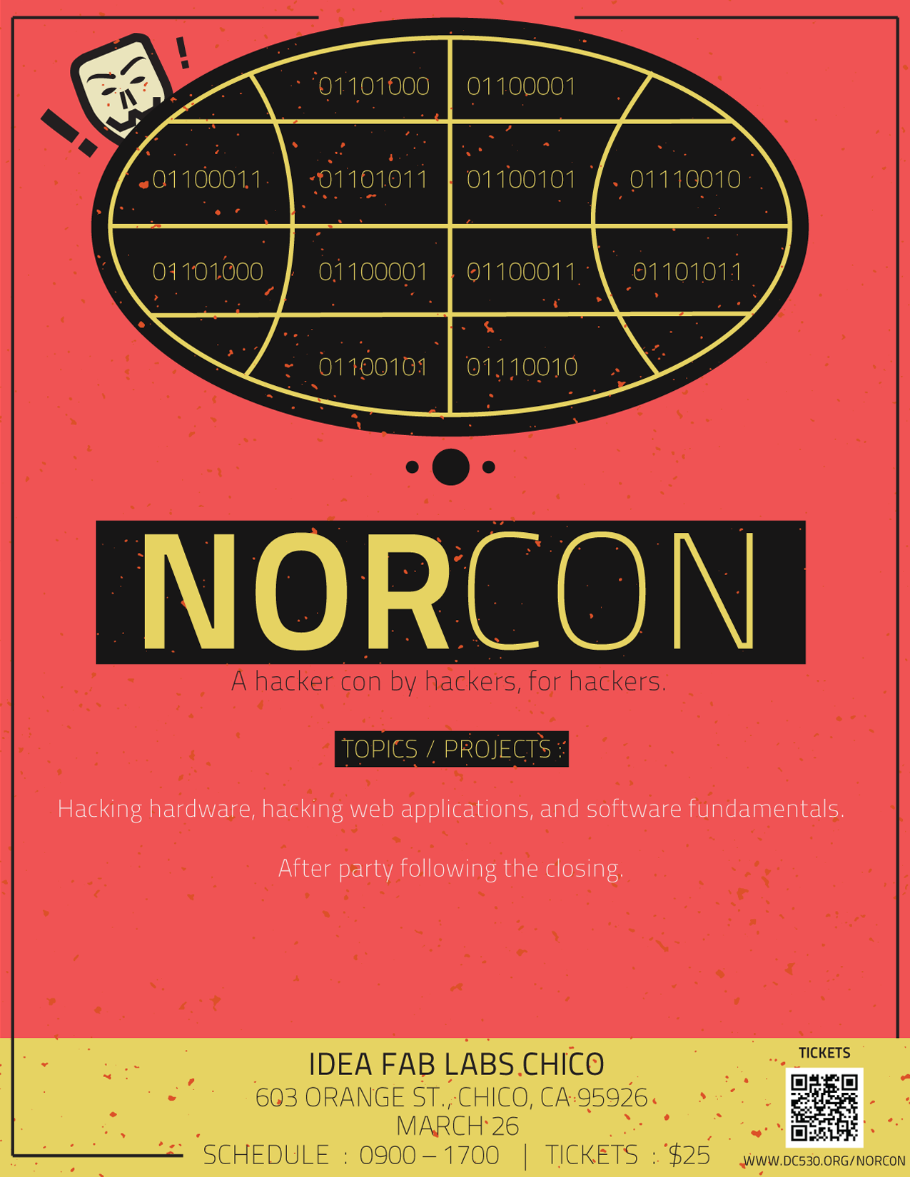 NorCon flyer for upcoming event. Photo Credit: From the Facebook