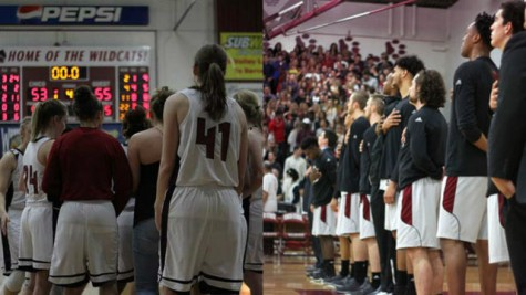 The 2016 Chico State men's and women's basketball teams. Photo credit: Jacob Auby & Jordan Olesen