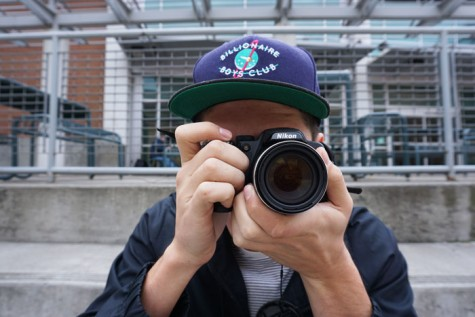 Vicente Fuentes, senior marketing major, has developed a passion for photography. Photo credit: Floritzel Salvador