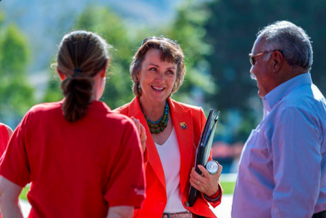 Dr. Gayle E. Hutchinson, is the first female president of Chico State. (Photo courtesy of Chico State).