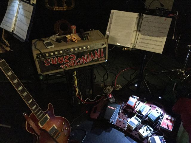 The Invincible Czars' set at The Pageant Theatre before their show alongside