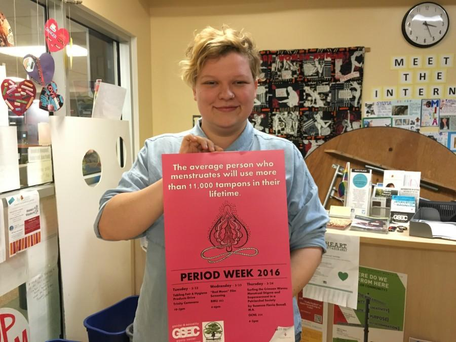 eliza dyer, the director of GSEC hopes that Period Week will educate people about menstruation and sustainable practices. Photo credit: Christine Zuniga