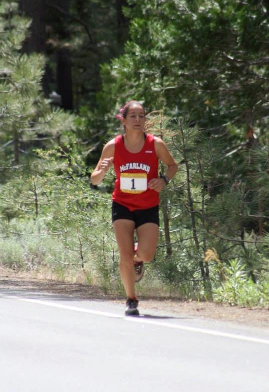 First-year runner Veronica Garcia representing her school. Photo credit: Veronica Garcia