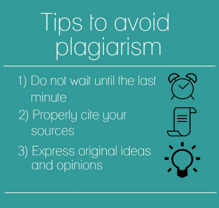follow these tips to avoid plagiarism in your academic work infographic by elizabeth castillo