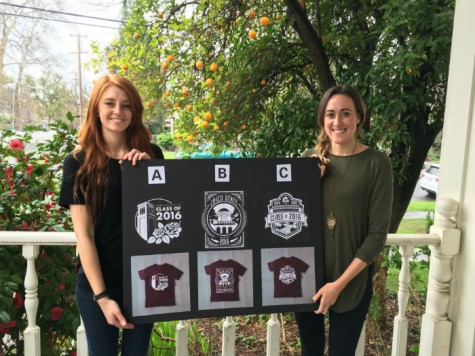 Students could choose from three different designs for the class of 2016 T-shirts sold at Senior Send-Off and commencement. Photo credit: Yoselin Calderon