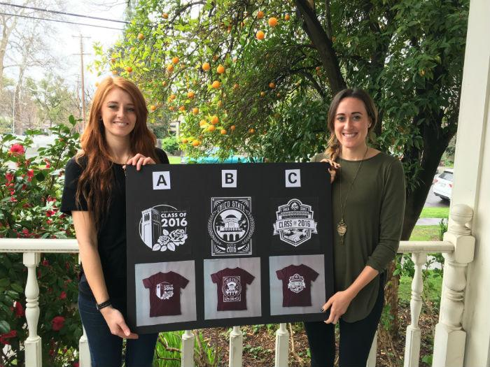 Students+could+choose+from+three+different+designs+for+the+class+of+2016+T-shirts+sold+at+Senior+Send-Off+and+commencement.+Photo+credit%3A+Yoselin+Calderon