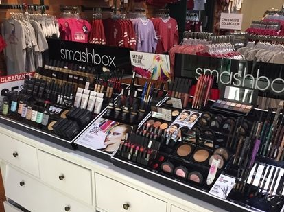 One of the many makeup counters at the Clinique counter includes a Smashbox line. Photo credit: Cassandra Porter