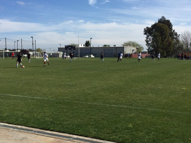 The Chico State men's soccer team plays the Sacramento Republic at Cosumnes River College. Photo credit: Esther Briggs