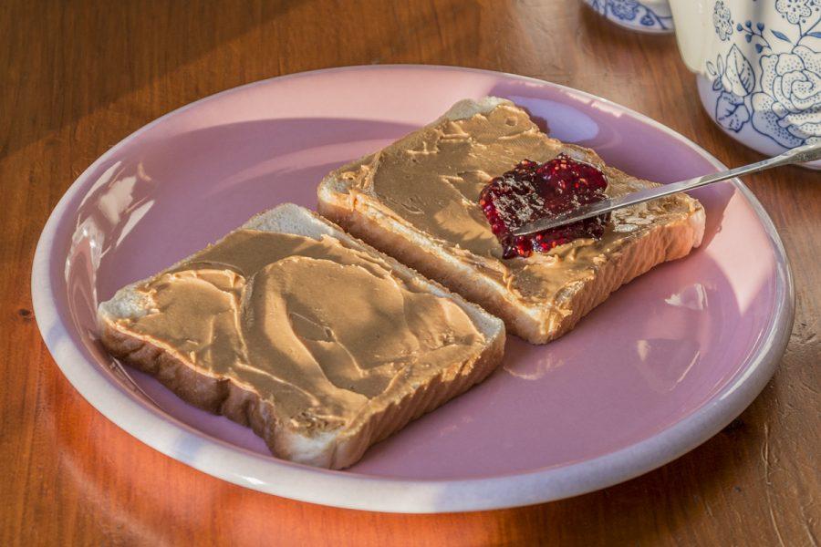 Smuker's jelly on peanut butter. Photo source: Wikipeidia