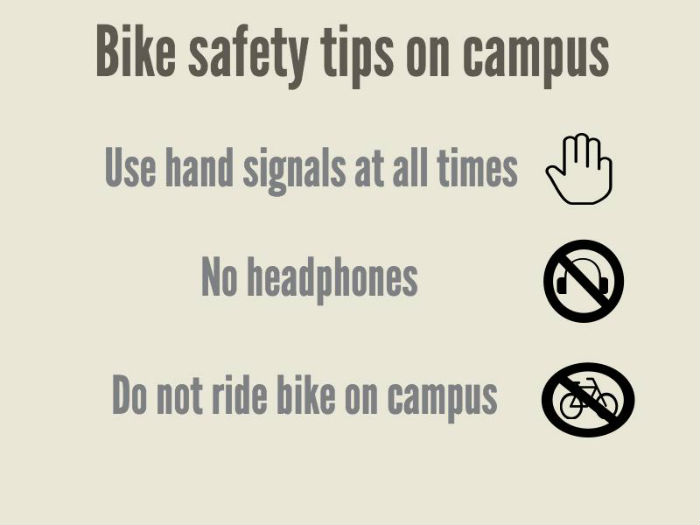 People+who+do+not+follow+bike+safety+rules+on+campus+may+be+cited+by+UPD.+Graphic+by+Elizabeth+Castillo