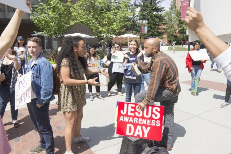 Christian advocate sparks rally with name calling