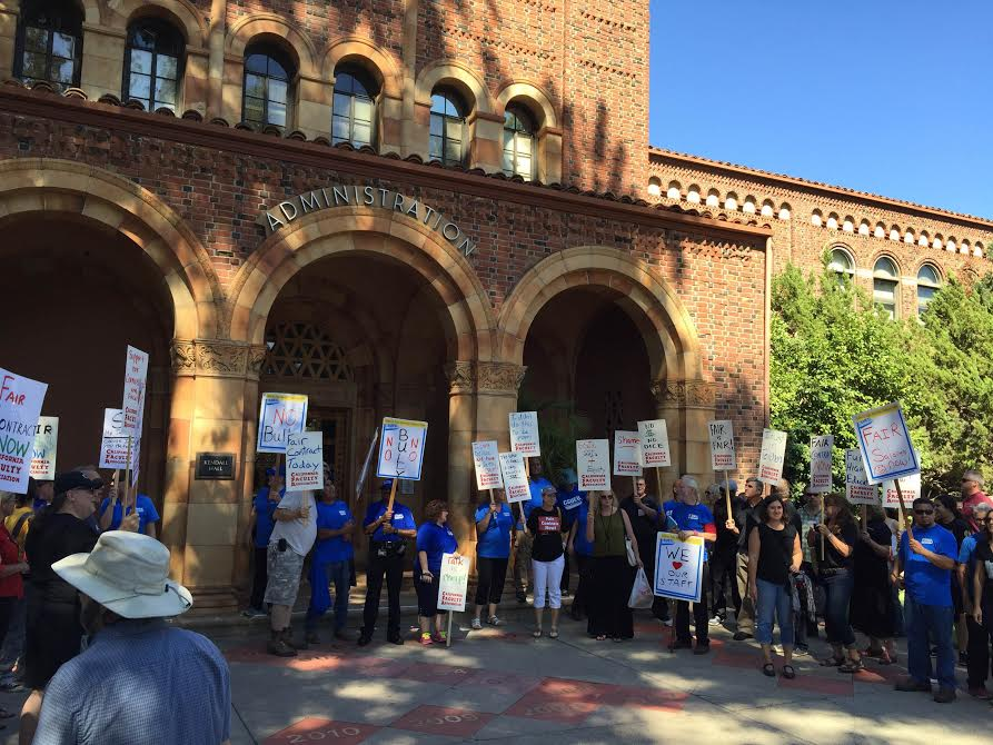 Chico State faculty voted to strike last year which with a last minute agreement on Friday was avoided Photo credit: Michael Catelli