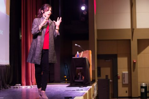 Carissa Phelps, human trafficking survivor, talks about the experience of being trafficked and how to approach those who are. Photo credit: Ryan Corrall