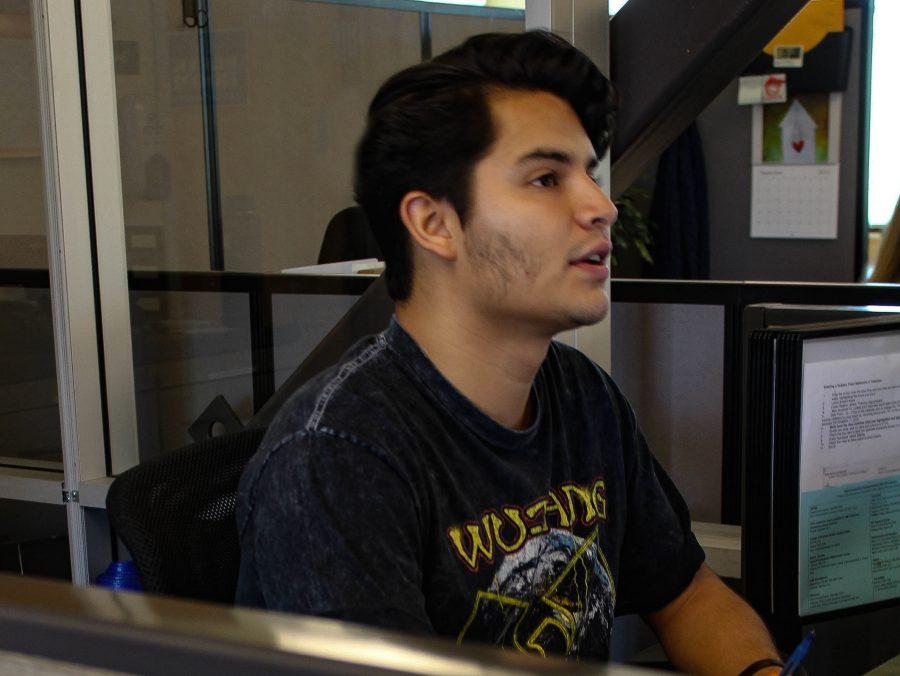 Vincent Urbina, junior Media Arts major Photo credit: Jae Siqueiros