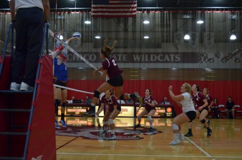 Mediano leads volleyball to first CCAA win
