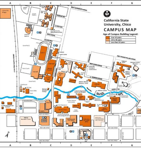 Map of the Chico State campus.