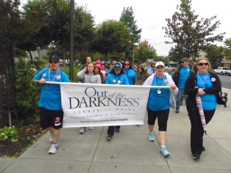 Hundreds walk to prevent suicide