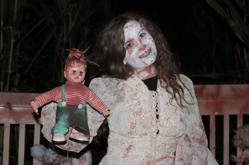 One of the 50 actors in the haunted corn maze. Photo credit: Matthew Manfredi