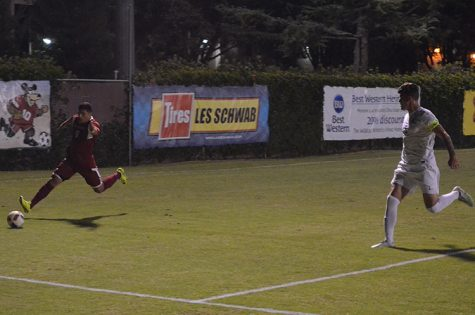 Nuno leads men's soccer team to first road win