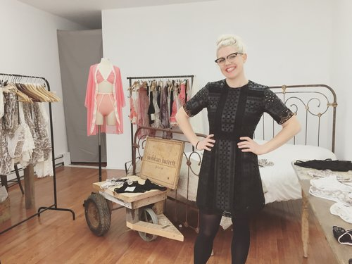 Designer Siobhan Barrett in her studio. Photo courtesy of Siobhan Barrett